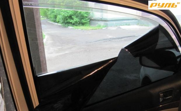 Тонировка без снятия стекол своими руками 7